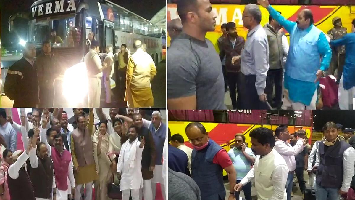 कांग्रेस विधायकों के बाद अब BJP विधायकों का काफिला पहुंचा राजधानी