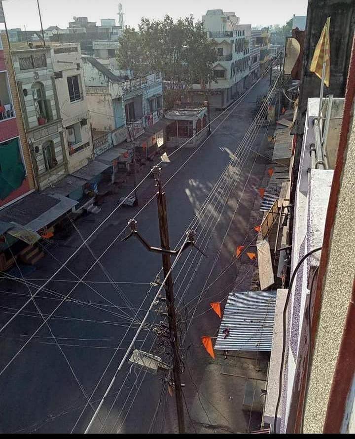शुजालपुर में जनता कर्फ्यू का असर