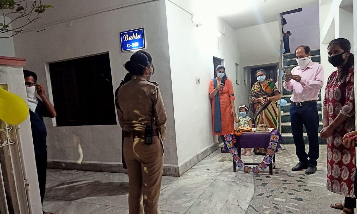 विदेशी तालाबंदी में फंसा नौसैनिक पिता,पुलिस ने मनाया मासूम का बर्थडे