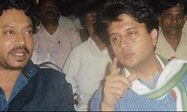 इरफान के निधन से राजनीति-बॉलीवुड शोक में, सिंधिया ने शेयर की फ़ोटो
