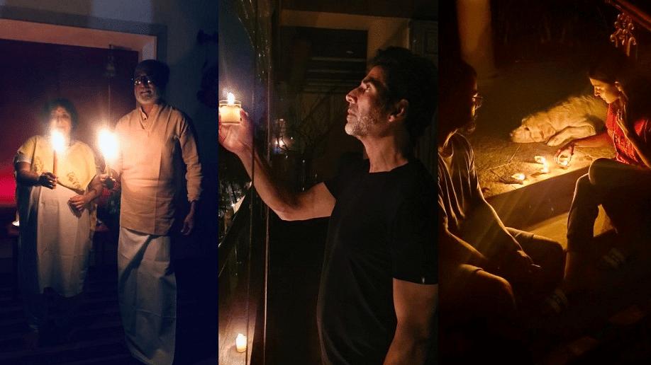 पीएम मोदी की अपील पर इन बॉलीवुड सितारों ने जलाए दिए