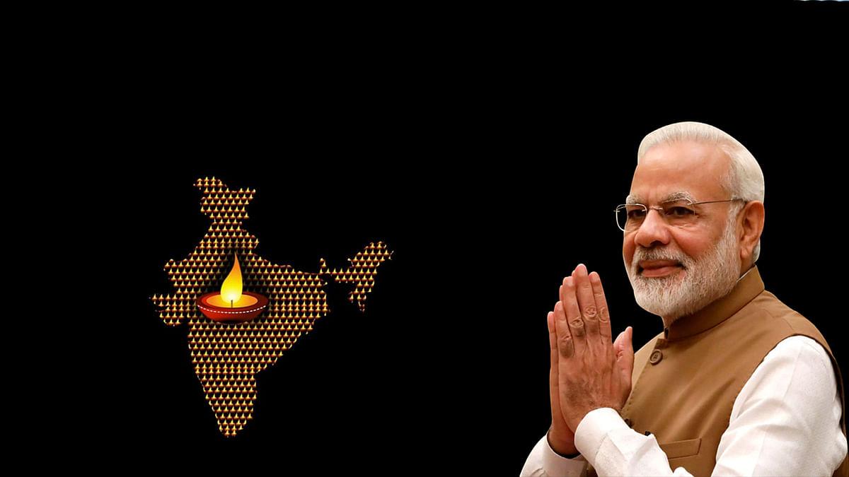 भारतवासियों ने मोमबत्ती और दीये जला कर किया PM की अपील का सम्मान