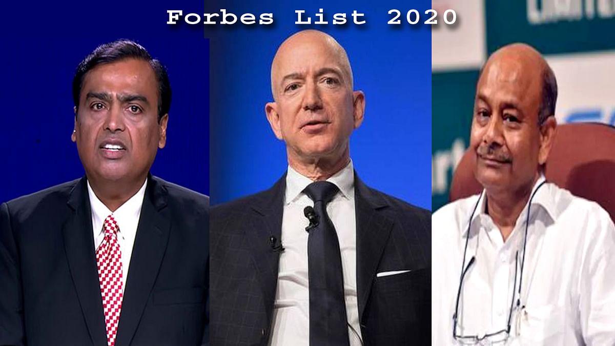 Forbes List 2020: बेजोस की हैट्रिक, ये भारतीय व्यक्ति भी है शामिल