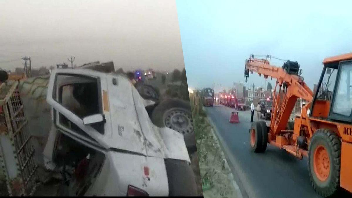 इटावा में पिकअप-ट्रक की टक्कर से सब्जी मंडी जा रहे किसानों की मौत