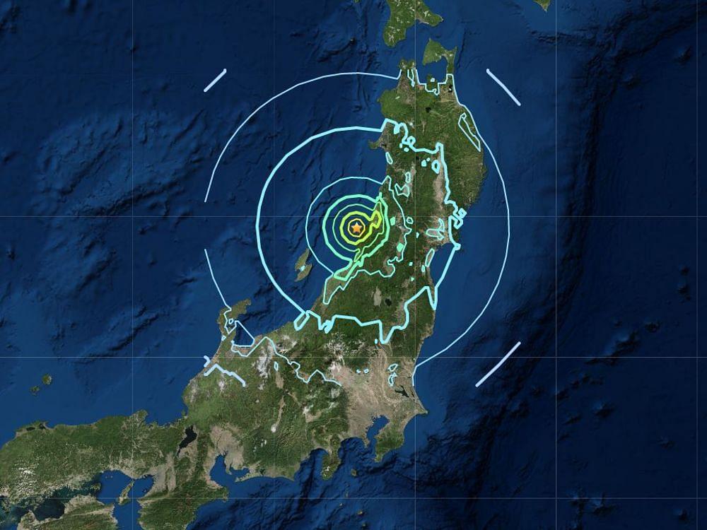 जापान: होंशु द्वीप पर एक घंटे में भूकंप ने दो झटके दिए