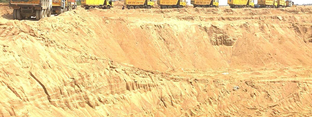 Sand Excavation Work in Lockdown