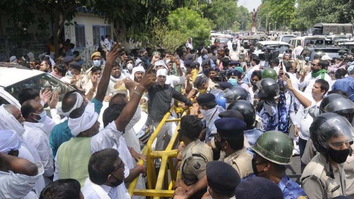 गोपालगंज मर्डर केस पर सियासी ड्रामा: पुलिस-RJD समर्थकों में नोक झोंक