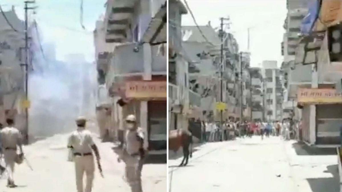 सूरत में प्रवासी मजदूरों का हंगामा, पुलिस पर बरसाए पत्थर