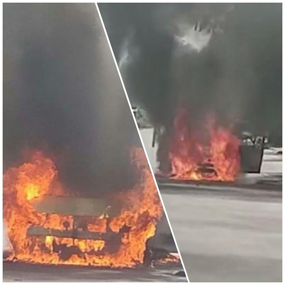 इंदौर: चलती कार में दहकी आग, बुलानी पड़ी फायर ब्रिगेड