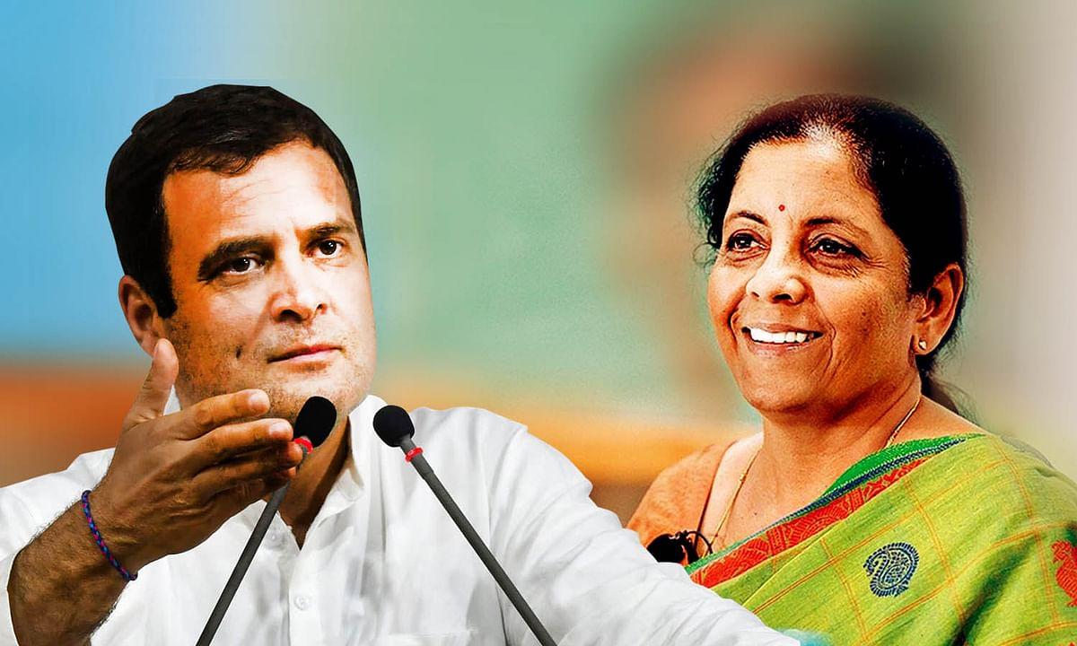 वित्त मंत्री ने कॉन्फ्रेंस कर किया राहुल पर पलटवार