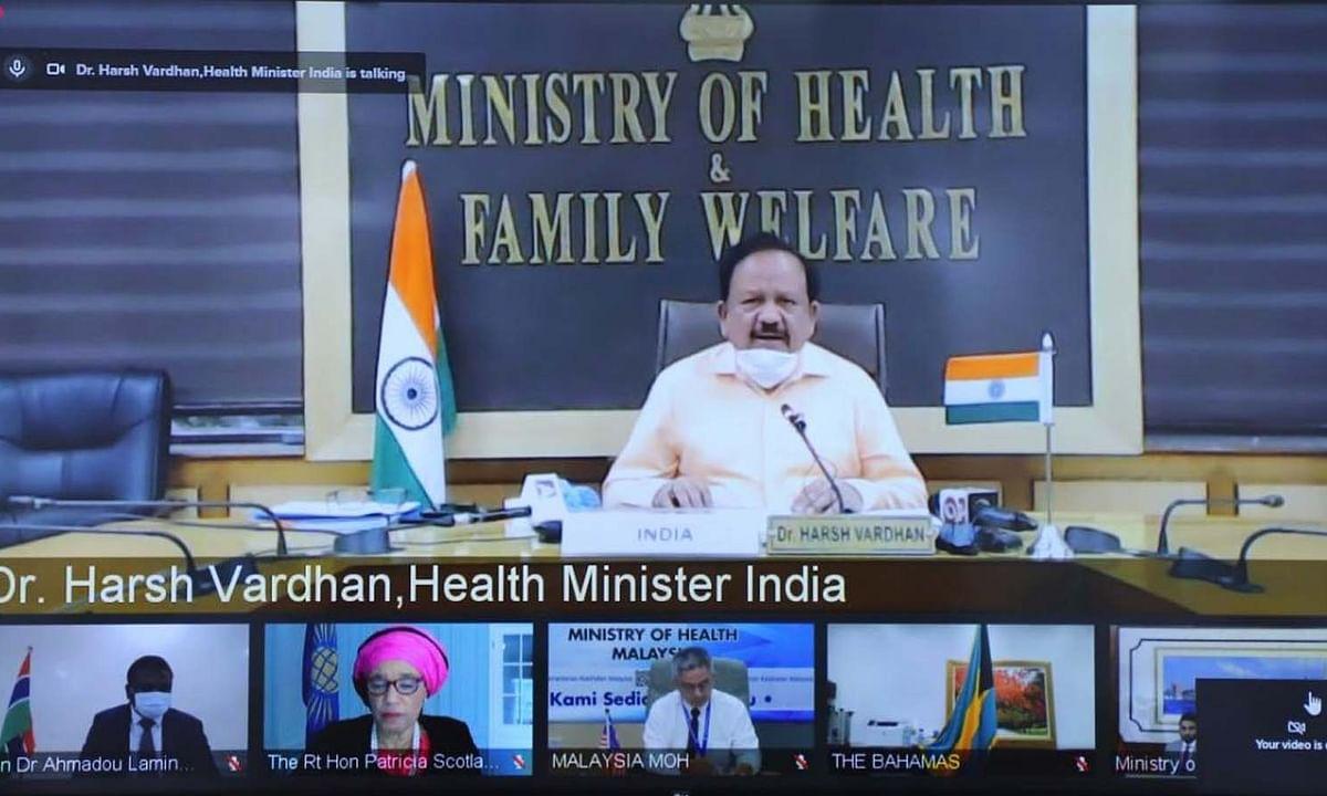 राष्ट्रमंडल स्वास्थ्य मंत्रियों की बैठक में हर्षवर्धन ने लिया हिस्सा