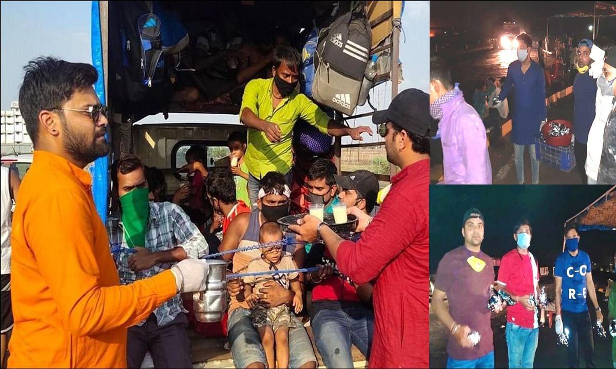 कोरोना संकट में मजदूरों की मदद के लिए आगे आए विदिशा के युवा