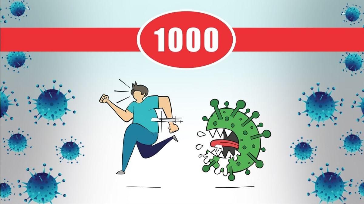 भोपाल में कोरोना मरीजों का आंकड़ा 1000 से पार