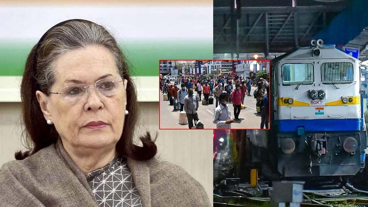 सोनिया गांधी का ऐलान- श्रमिकों के रेल यात्रा का खर्च उठाएगी कांग्रेस