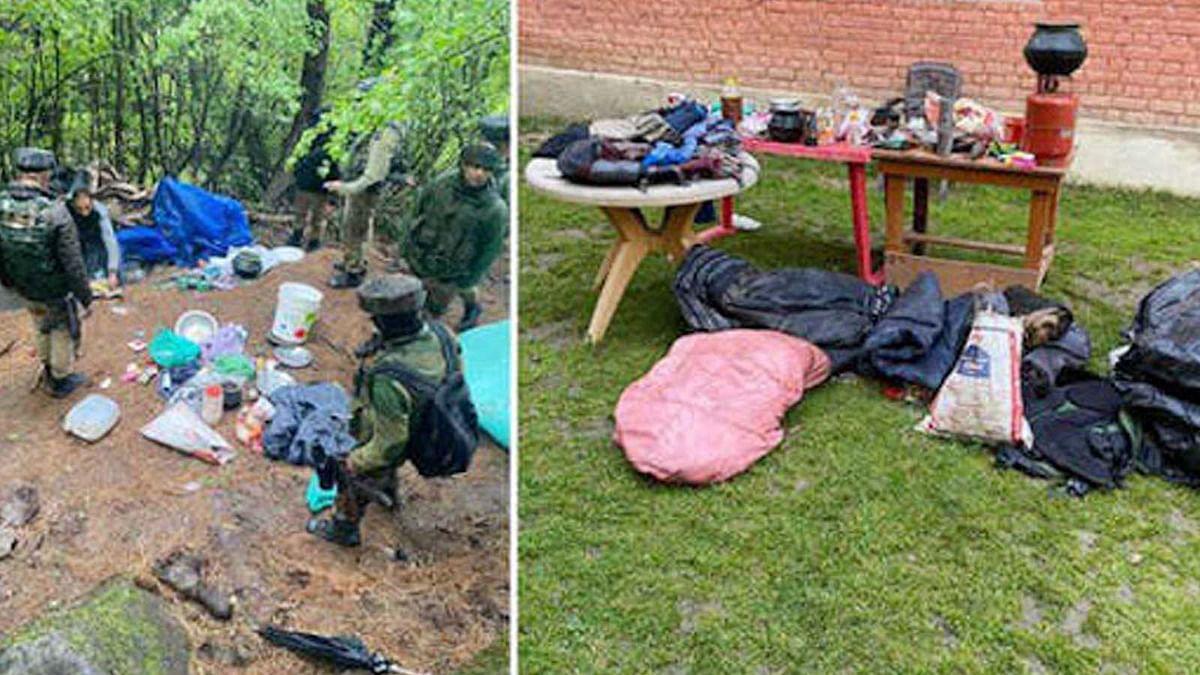 J&K: कुलगाम में आतंकवादी ठिकाने का पुलिस ने किया भंडाफोड़