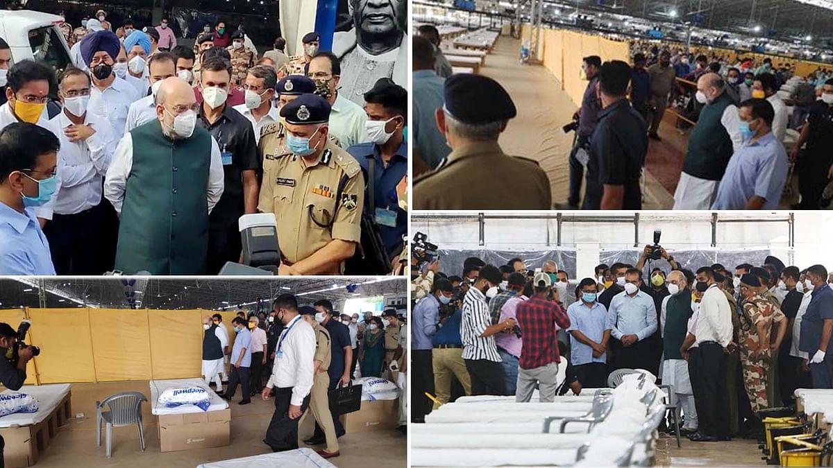 दिल्ली: सबसे बड़े कोविड-19 केयर सेंटर का शाह-केजरीवाल ने लिया जायजा