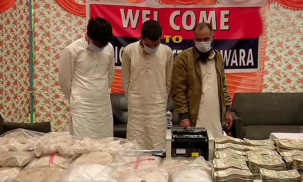 जम्मू-कश्मीर:नार्को-टेरर मॉड्यूल का भंडाफोड़-आतंकी के 3 मददगार अरेस्ट