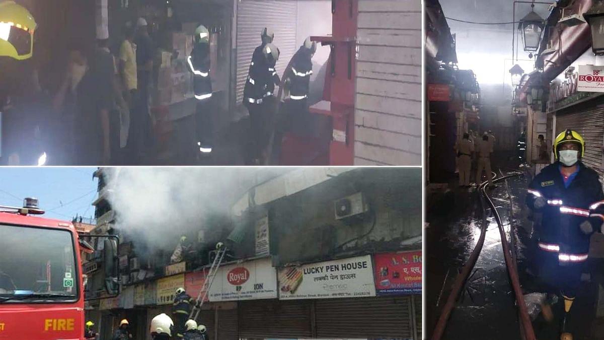 मुंबई: कोरोना काल में मशहूर क्रॉफोर्ड मार्केट में मचा आग का तांडव