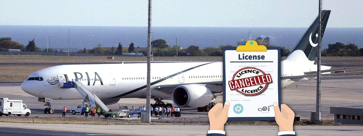 Pakistan International Airlines pilots License canceled