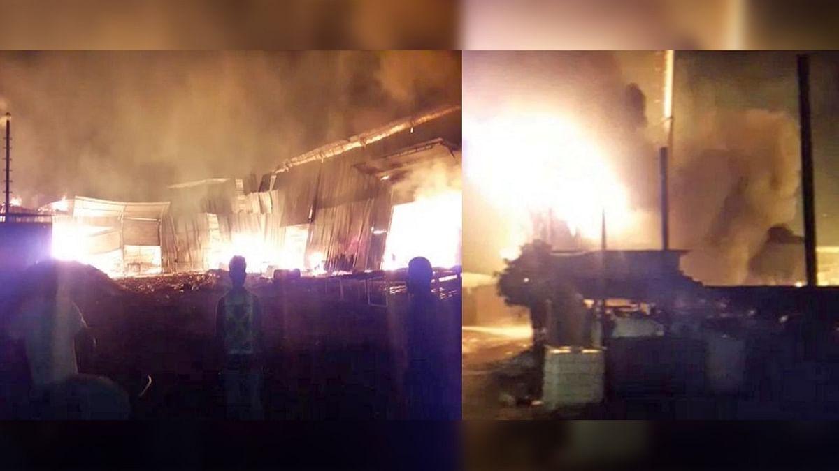 धार: फिर एक बार आफत बनी आग, फैक्ट्री में आग से उड़े धुएं के गुब्बारे