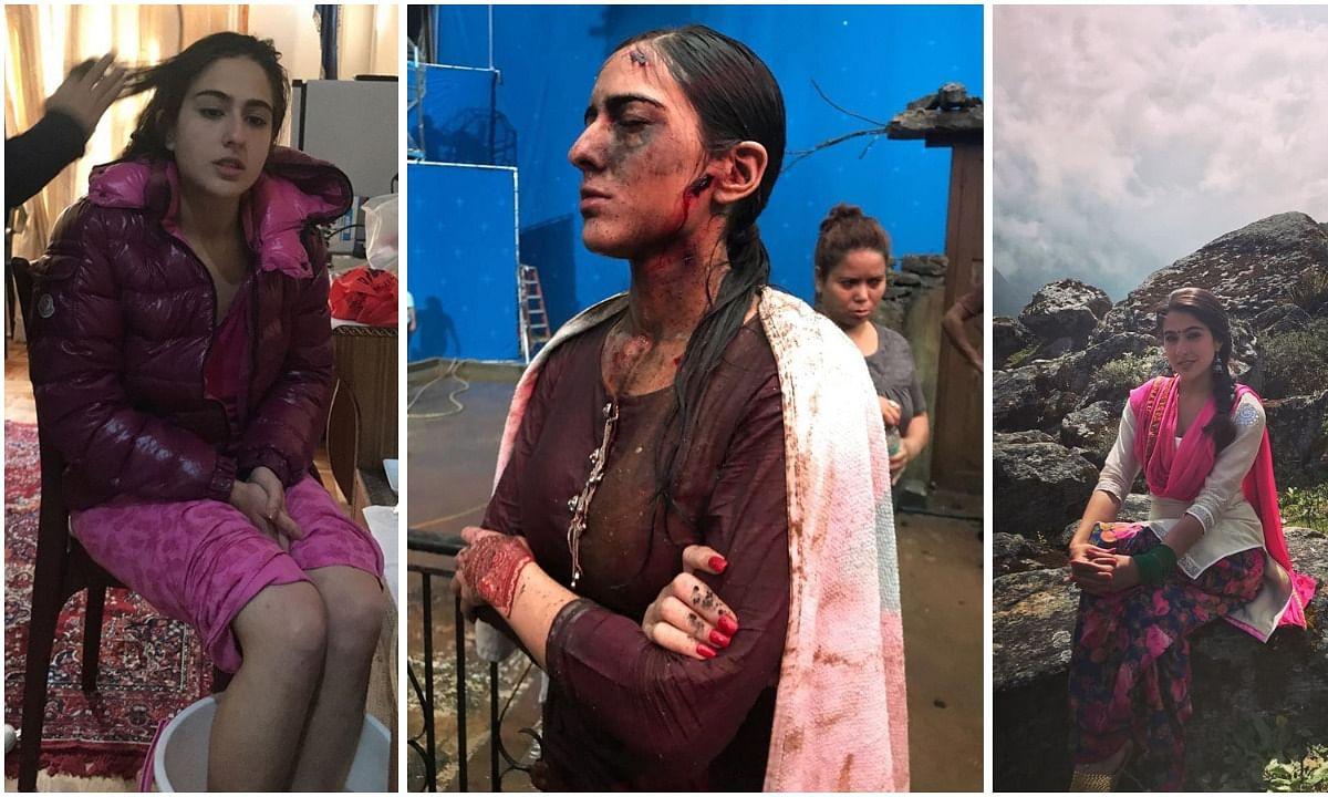 सारा अली खान ने शेयर की तस्वीरें, चोटिल अवस्था मे दिखीं अभिनेत्री