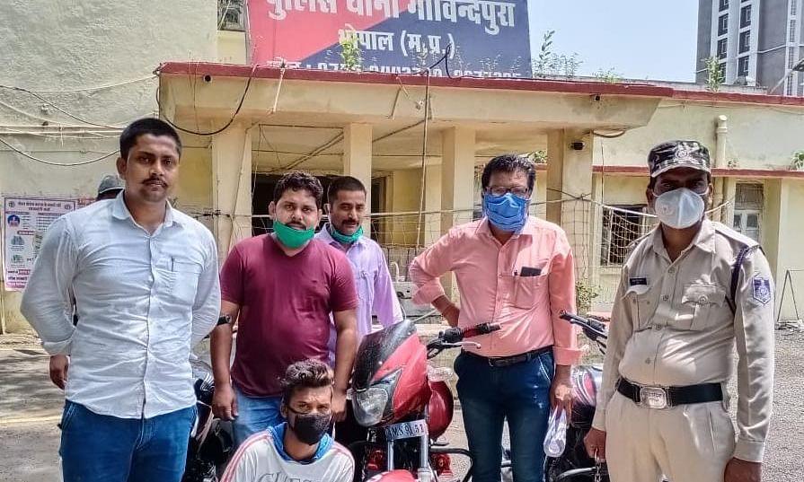 भोपाल: शातिर मोबाईल चोर को थाना गोविन्दपुरा पुलिस ने किया गिरफ्तार