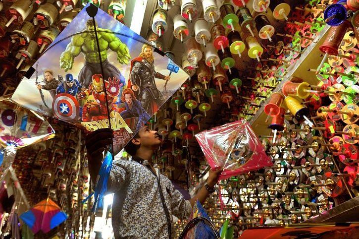 पतंग बाजार दिल्ली।