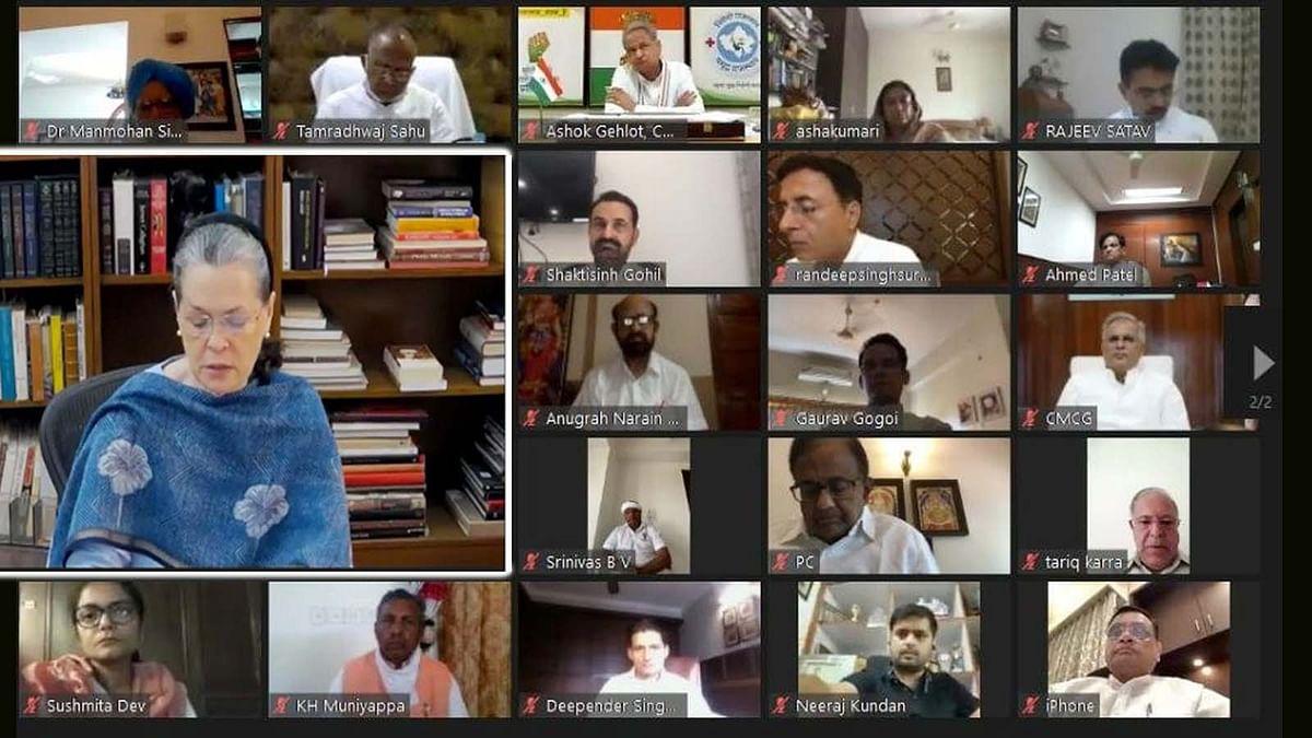 दिल्ली: सोनिया की CWC की मीटिंग