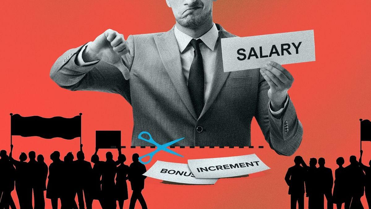 बिगड़ी अर्थव्यवस्था को पटरी पर लाने रोकी गई वेतन वृद्धि पर बड़ा विरोध