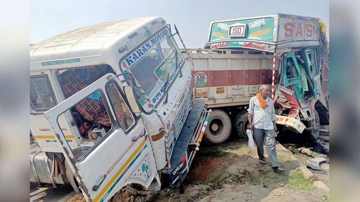 भीषण हादसा: ट्रक-ट्राले की भिड़ंत में उड़े परख्च्चे