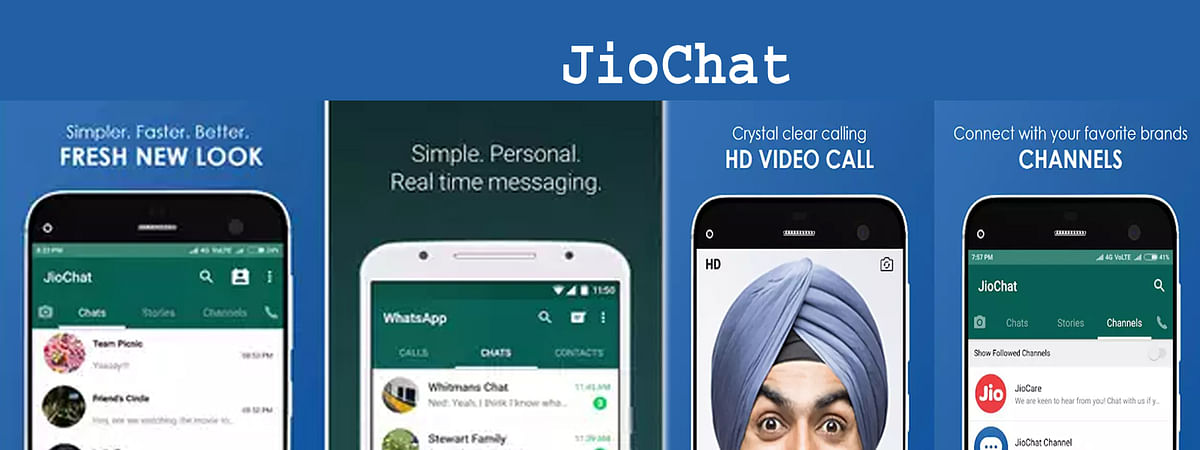 Reliance Jio changed user interface of JioChat