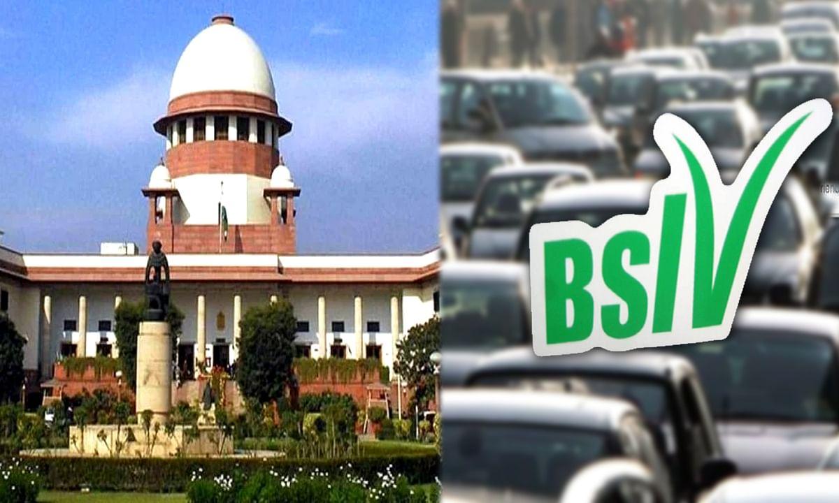 Supreme court changes verdict in BS4 vehicles sale Case