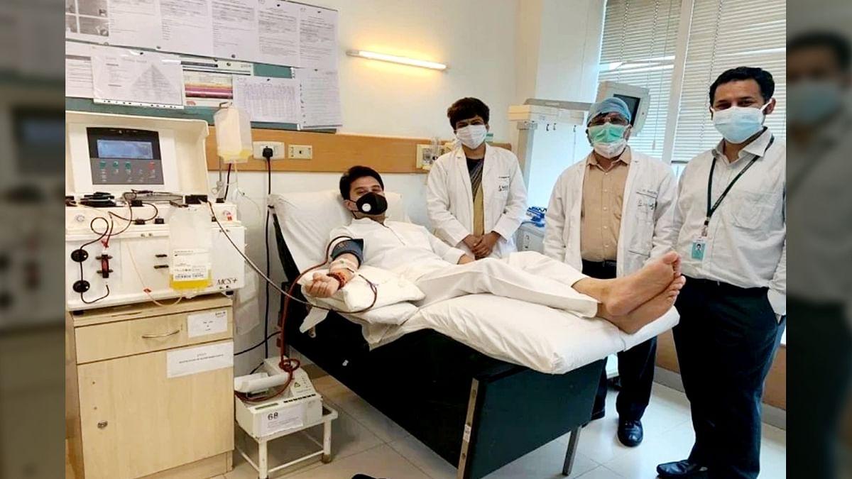 सिंधिया ने प्लाज़्मा डोनेट कर की जनता से अपील, बचेगी मरीजों की जान