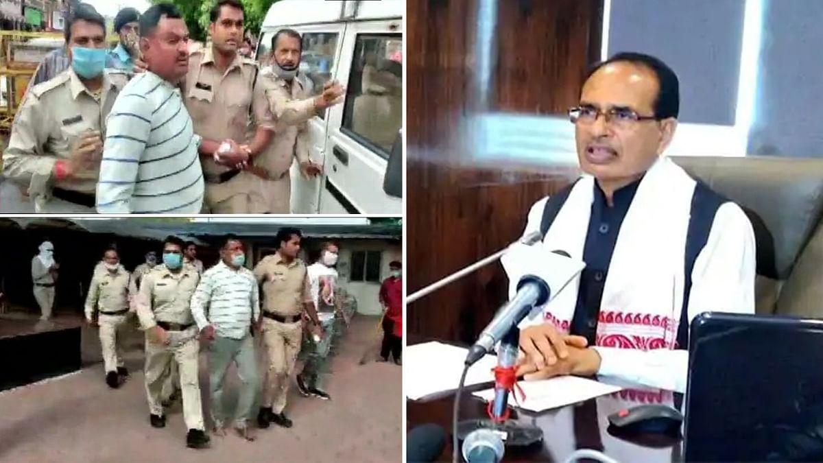 दुर्दांत अपराधी 'विकास दुबे' की गिरफ्तारी पर CM ने MP पुलिस को दी बधाई