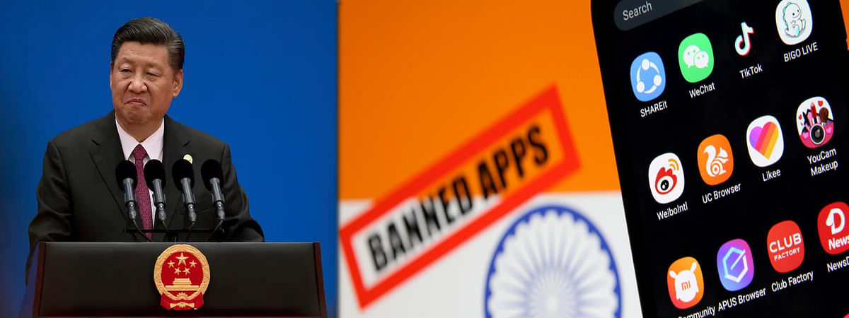 China reaction on India banning 47 Chinese apps