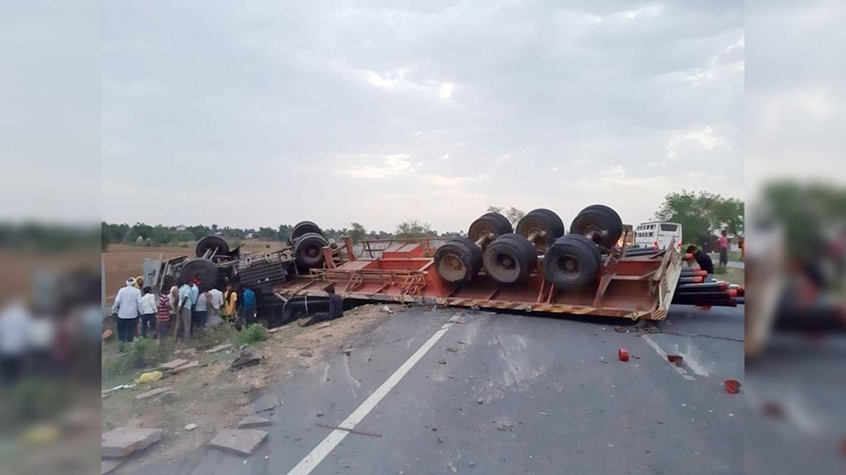 शिवपुरी: टैक्टर और ट्राले की जोरदार टक्कर, हादसे में गई एक की जान