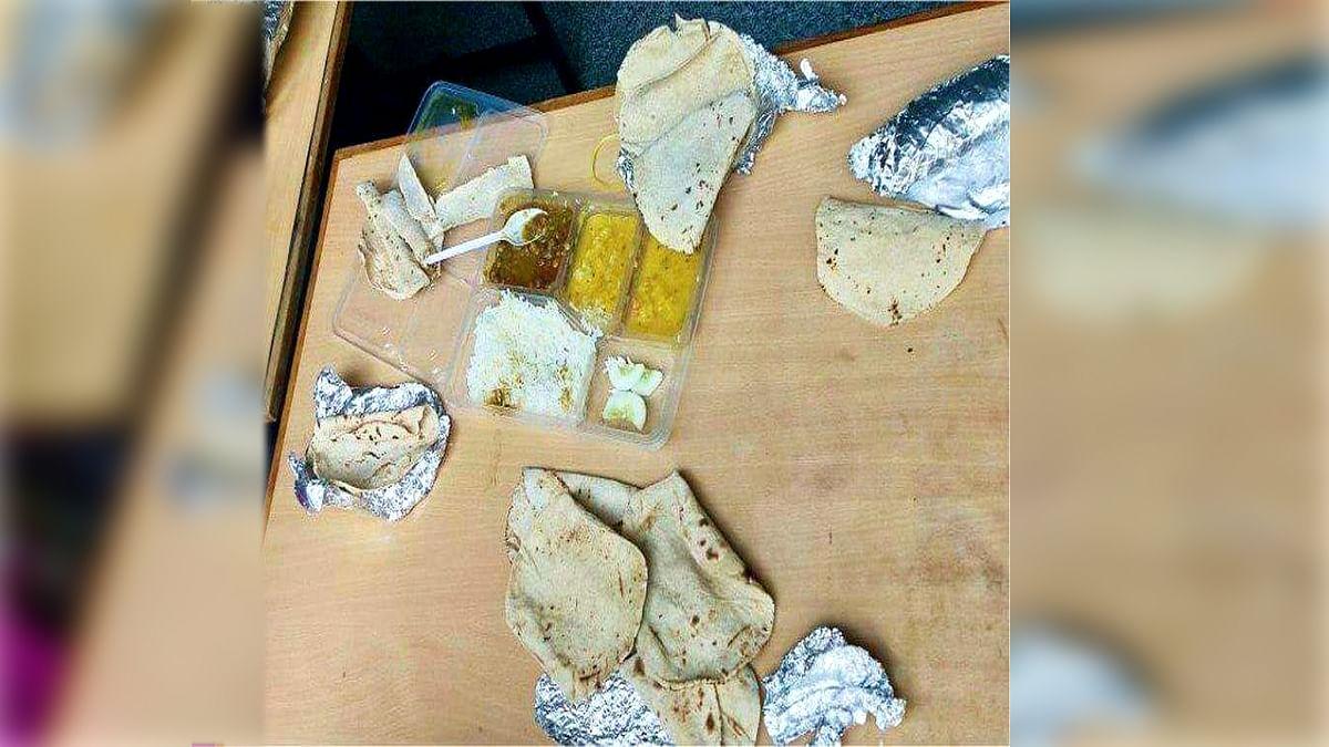 भोपाल के क्वारंटीन सेंटर में मरीजों को दिया जा रहा बासी खाना
