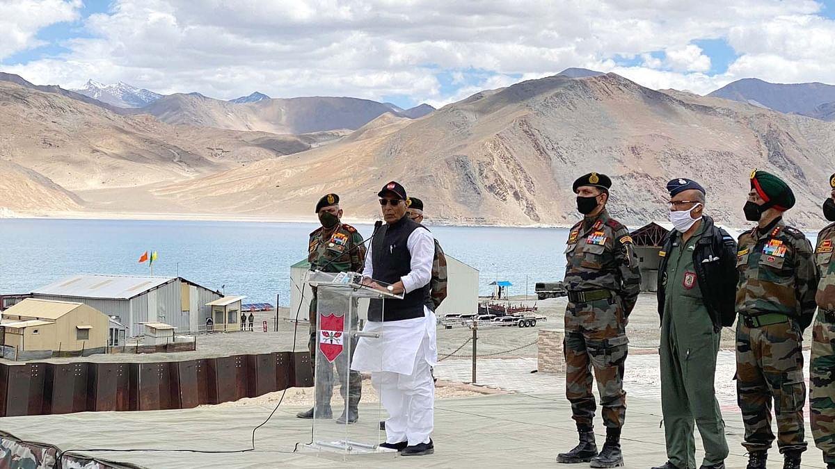 लद्दाख में बोले राजनाथ सिंह- भारत की 1 इंच जमीन कोई ताकत छू नहीं सकती