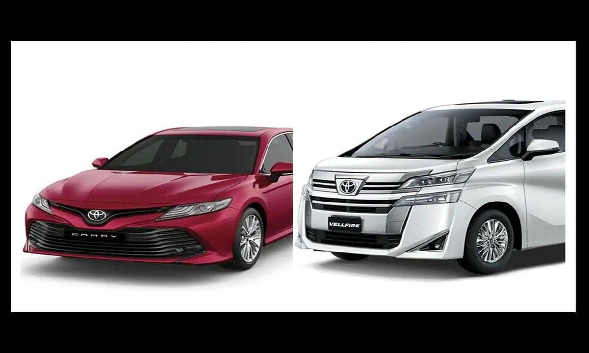 Toyota Increased cost of Camry Hybrid and Vellfire MPV