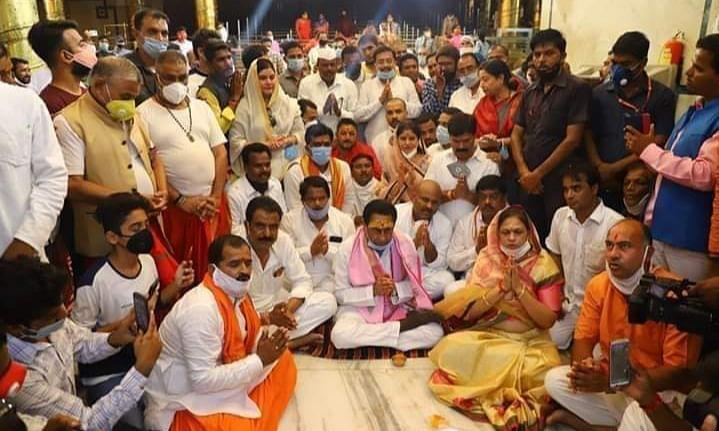 उज्जैन: पूर्व CM कमलनाथ ने महाकाल दर्शन कर लिया जीत का आशीर्वाद
