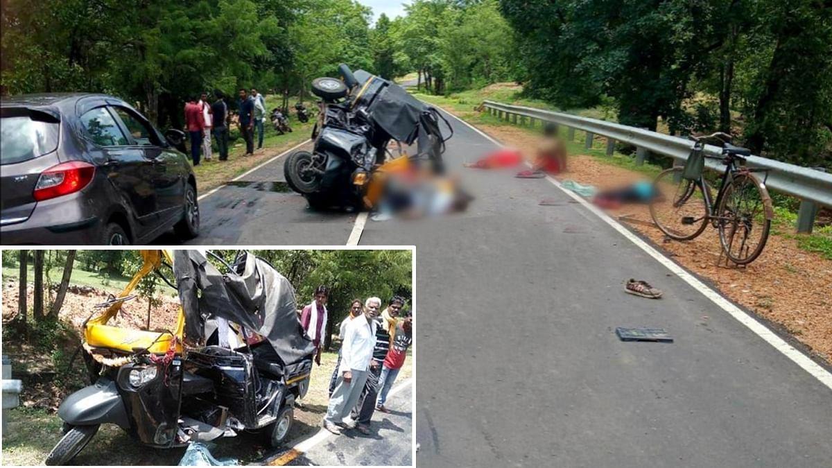 कटनी: हृदय विदारक घटना! ऑटो-ट्रक की भीषण टक्कर में 6 की मौत