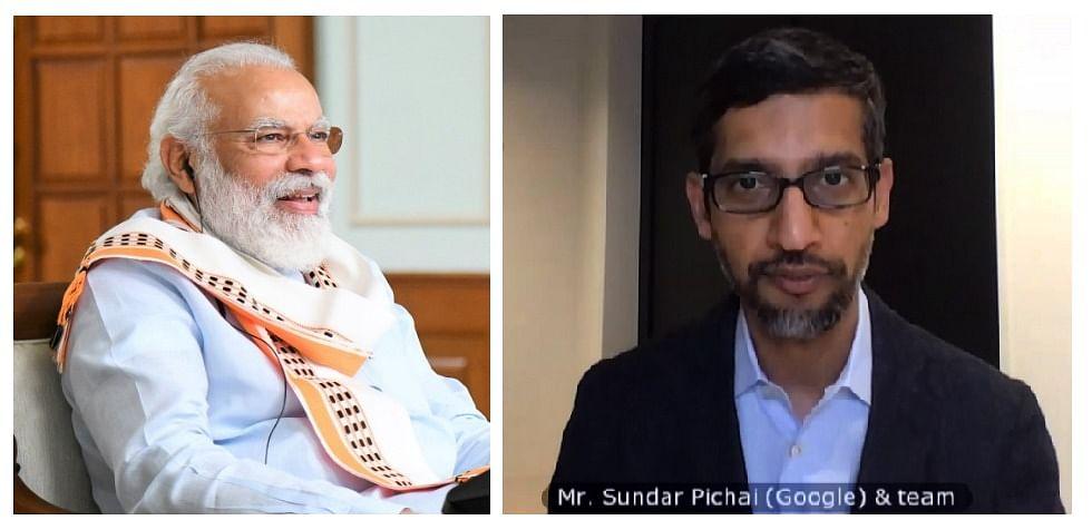 Google CEO व PM मोदी की वर्चुअल मीटिंग-कई विषयों पर की चर्चा