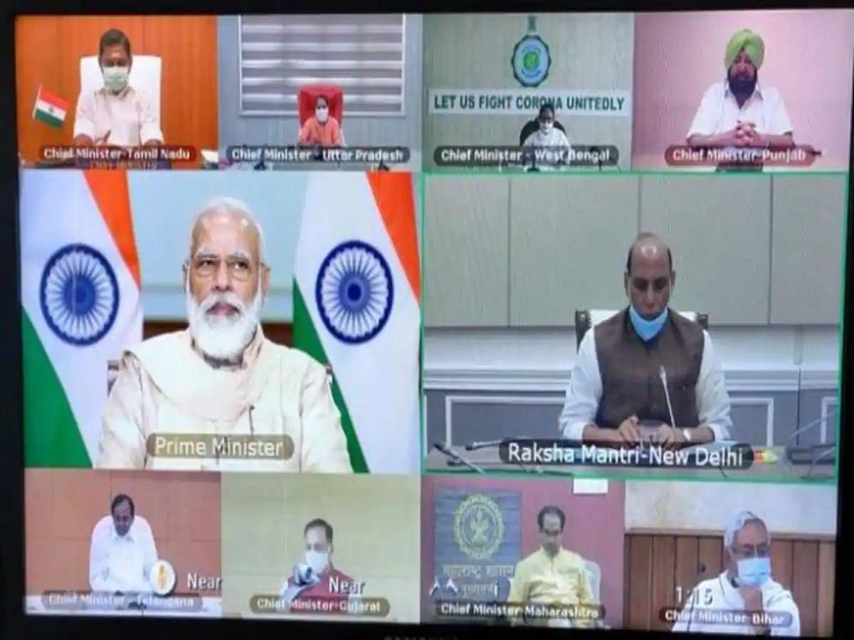 कोरोना संकट से प्रभावित 10 राज्यों के CM संग PM मोदी की चर्चा