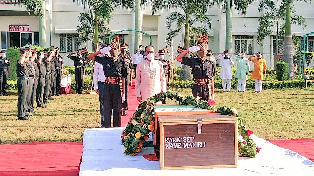 आतंकी हमले में शहीद मनीष की शहादत पर CM शिवराज का ऐलान