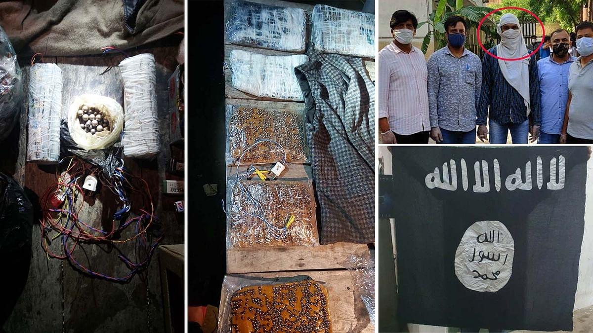 दिल्ली: ISIS आतंकी के घर खुदाई करके तलाशी-बड़ी मात्रा में विस्फोटक बरामद