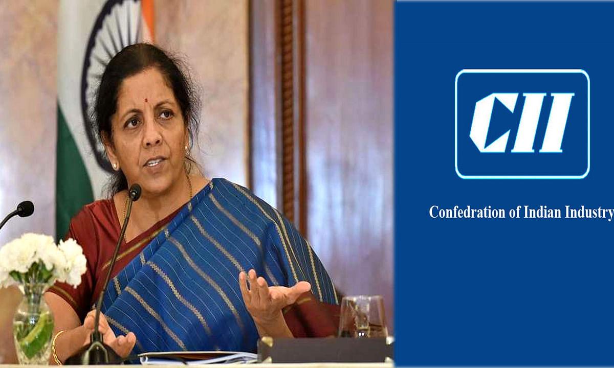 Finance Minister Sitharaman at CII program