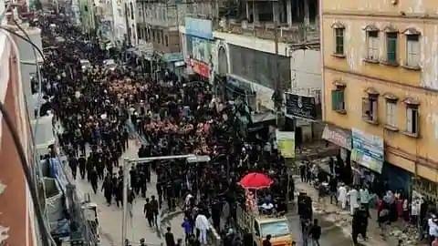 Muharram procession in Hyderabad