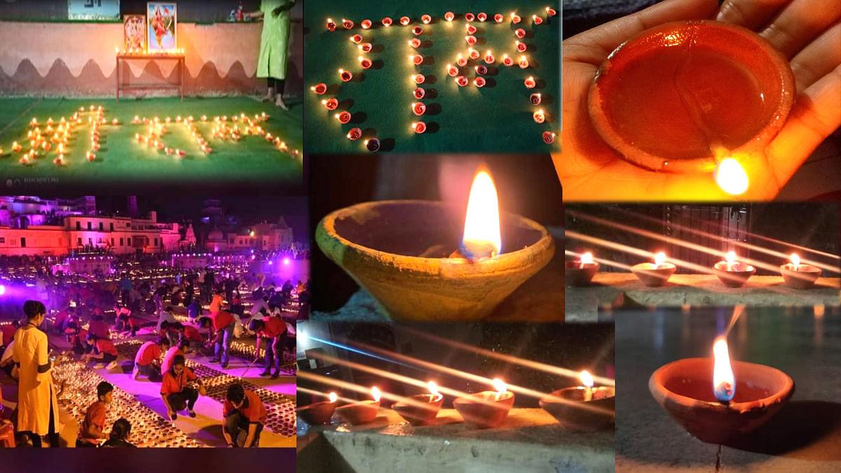अयोध्या में राम मंदिर की आधारशिला रखते ही दीपों से जगमगा गया भारत