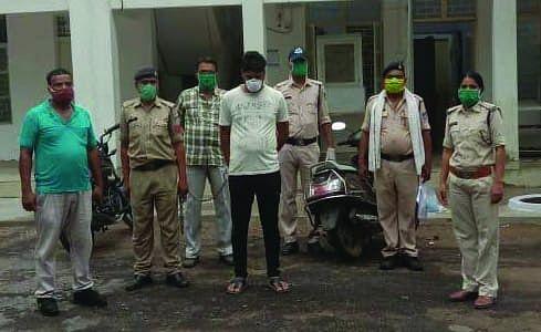 शहडोल : पुलिस गिरफ्त में आया बलात्कार का आरोपी