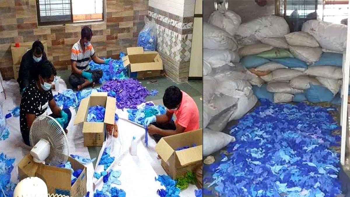 मुंबई : सर्जिकल हैंड ग्लव्स धोकर बेचने वाला गिरोह का खुलासा
